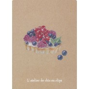 Tartelette Fruits des Bois, pâtisserie-bijou carte postale