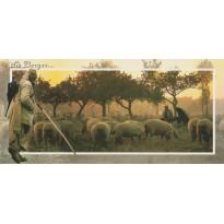 Le Berger et son troupeau  à l'automne