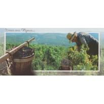 Les Vendanges, travail de la vigne en carte postale