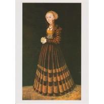"""""""Dame à la Pomme"""" de Lucas Cranach -Reproduction en carte postale."""